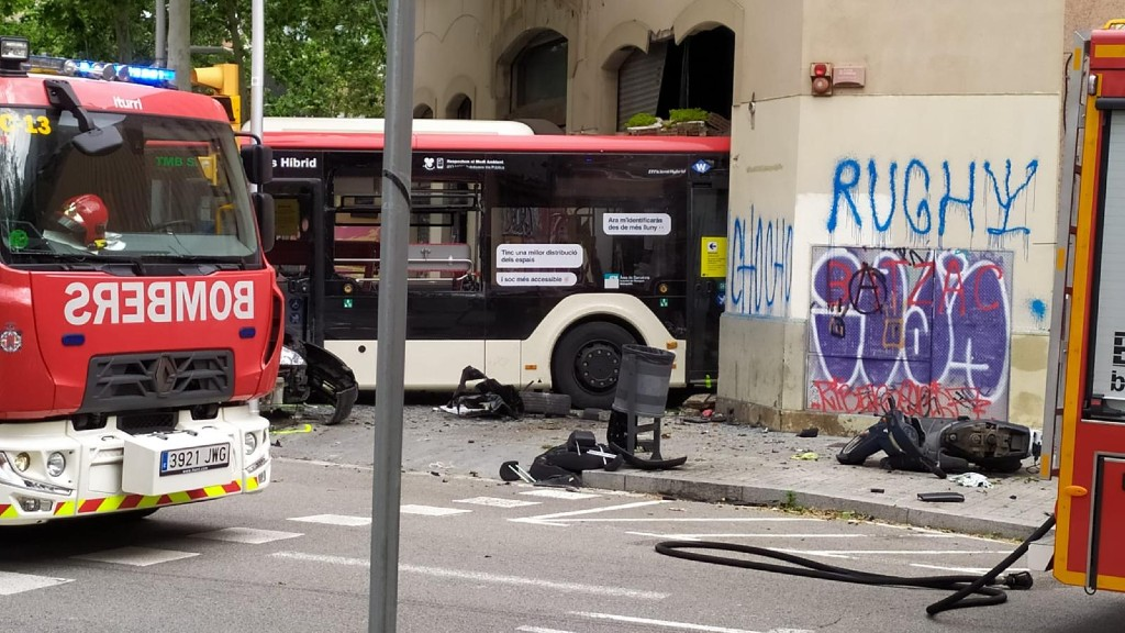 Accident autobús Poblenou