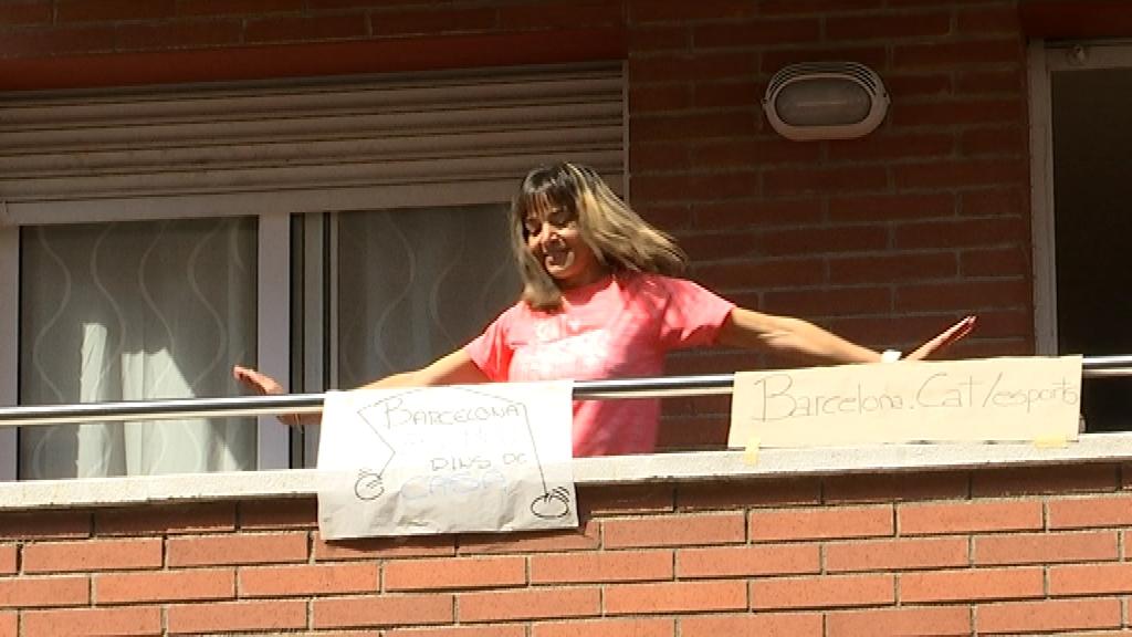 Sessió de fitnes als balcons