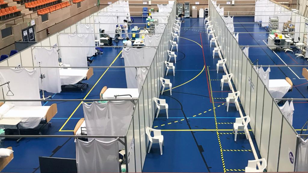 Imatge del nou hospital de dia de Vall d'Hebron, que s'utilitzava per a pacients amb coronavirus