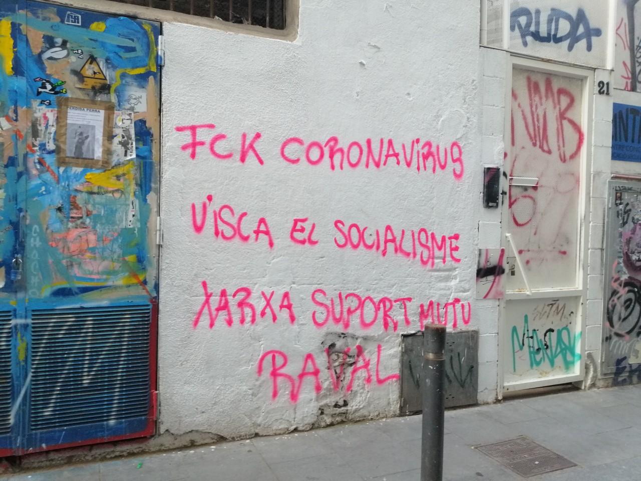 coronavirus missatge carrer socialisme xarxa suport mutu raval