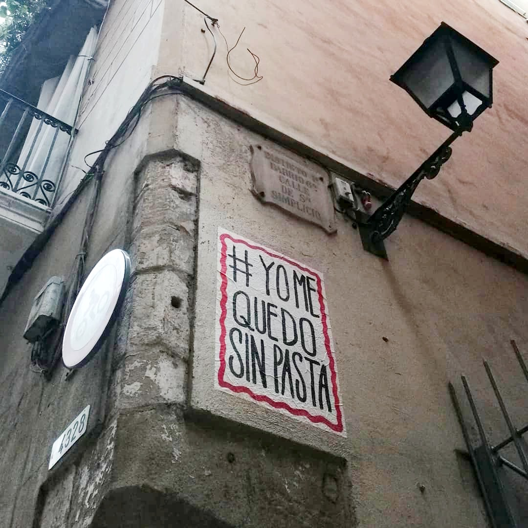 Art urbà covid El Rughi Tropelia 190520 sinpasta