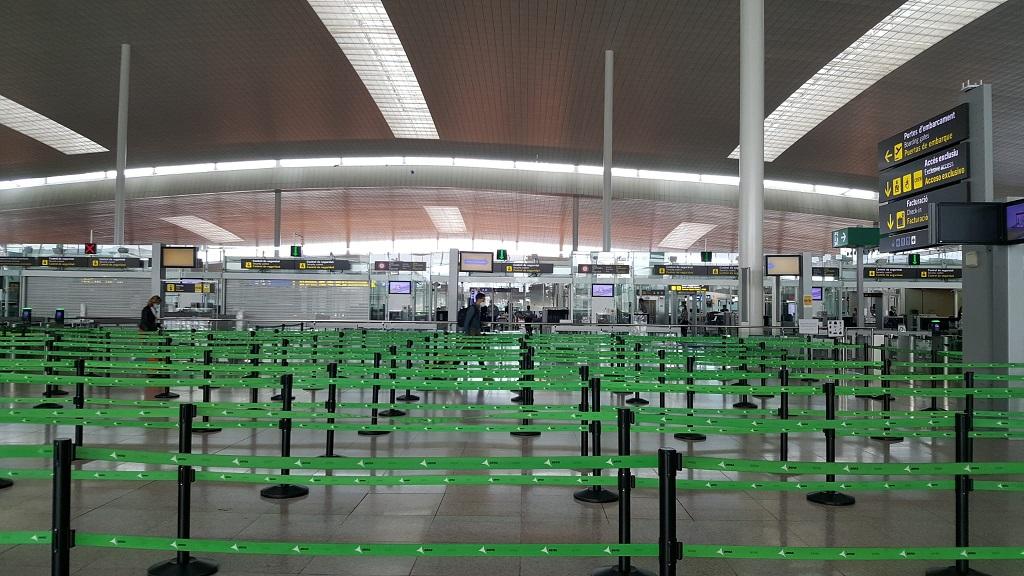 Imatge de l'aeroport Josep Tarradellas Barcelona-El Prat, aquest divendres 15 de maig