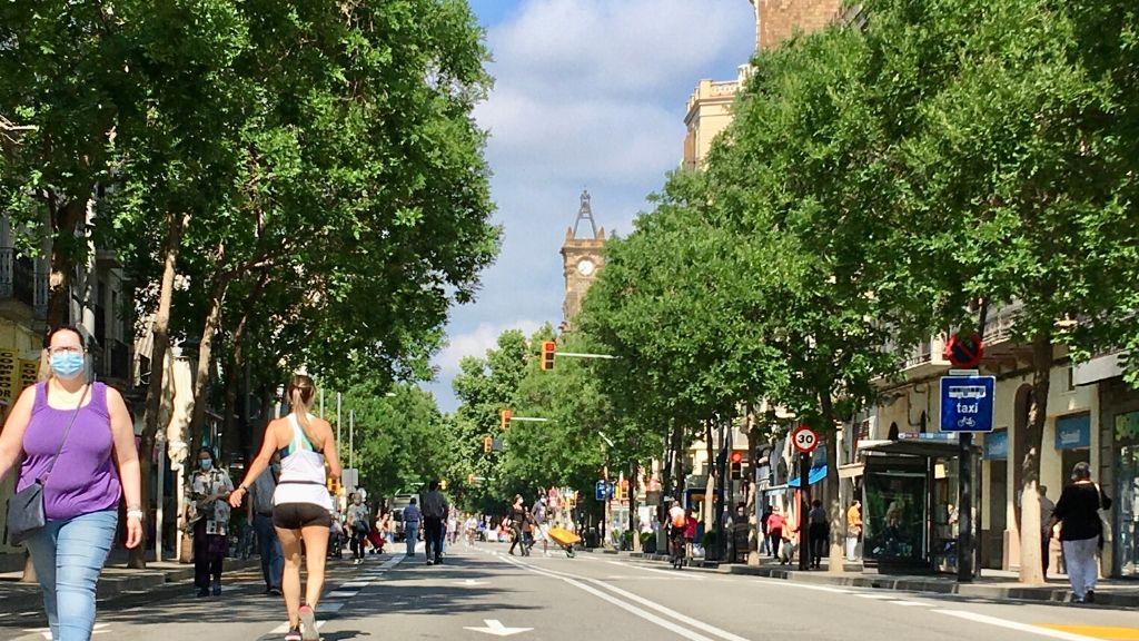 carrer Sants tallat vianants