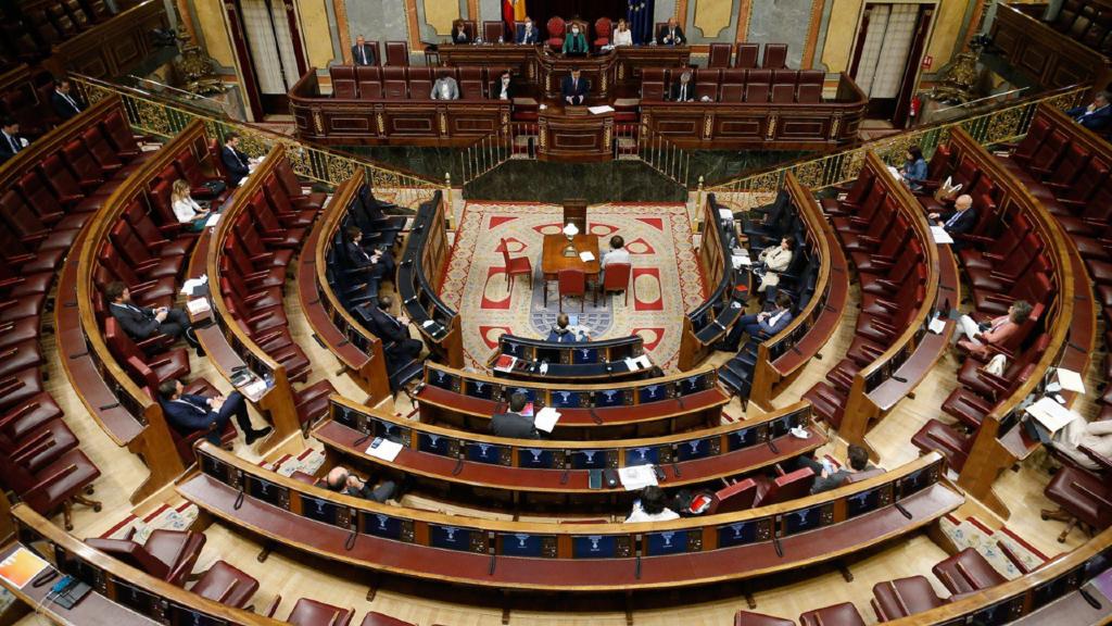 Imatge del Congrés dels Diputats durant el debat de la cinquena pròrroga de l'estat d'alarma el 20 de maig del 2020