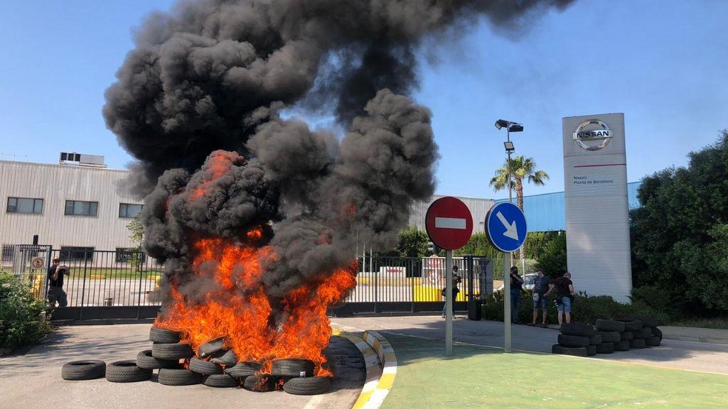 Nissan Barcelona protesta treballadors