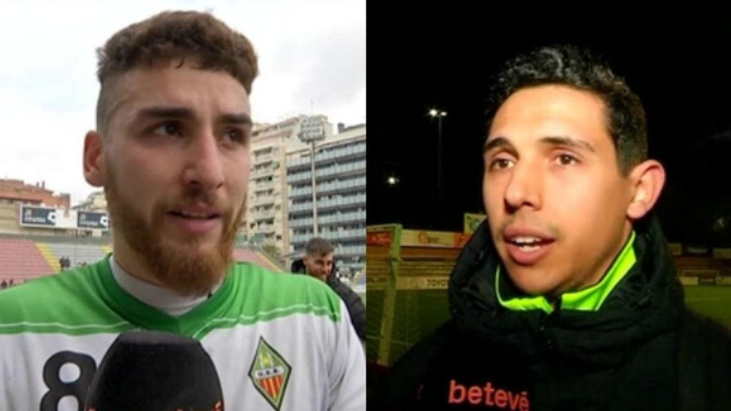 Adrian Navarro 'Picolo' i Guillem Hernández, exjugadors del Sants