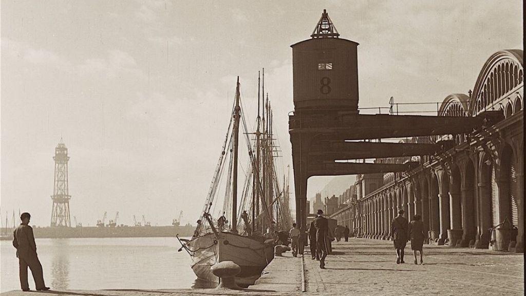 Port de Barcelona foto antiga