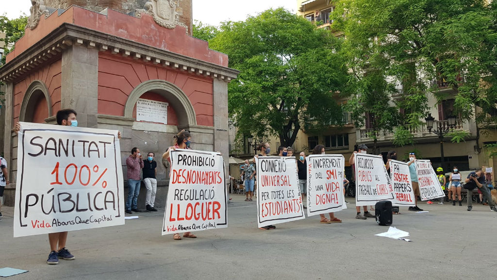 protesta gràcia coronavirus