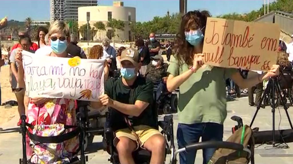 protesta accessibilitat platges