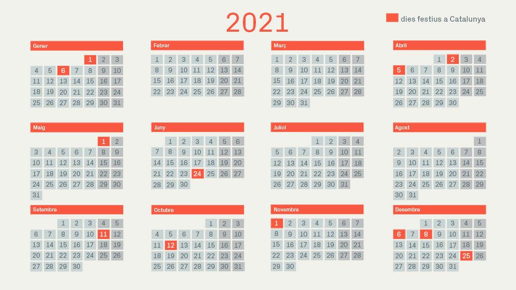 calendario 2021 catalunya