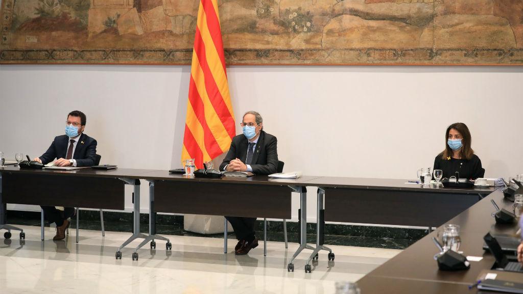 Reunió del primer Consell Executiu presencial des de l'esclat de la pandèmia pel coronavirus
