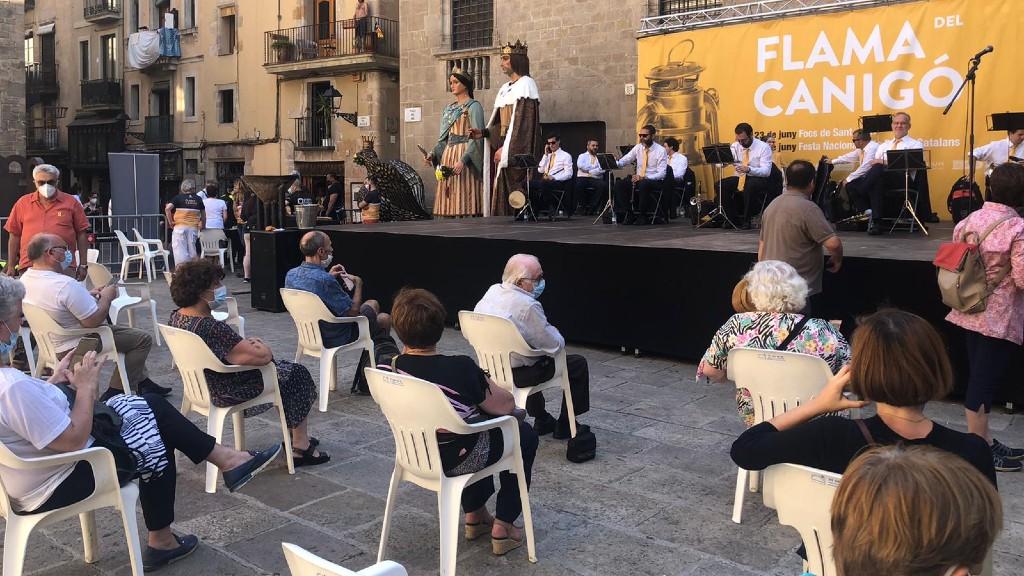 Acte de la Flama del Canigó 2020 a la plaça del Rei