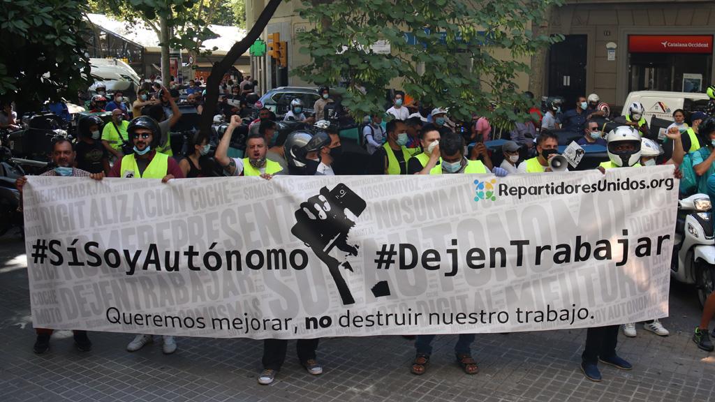 Manifestació de riders