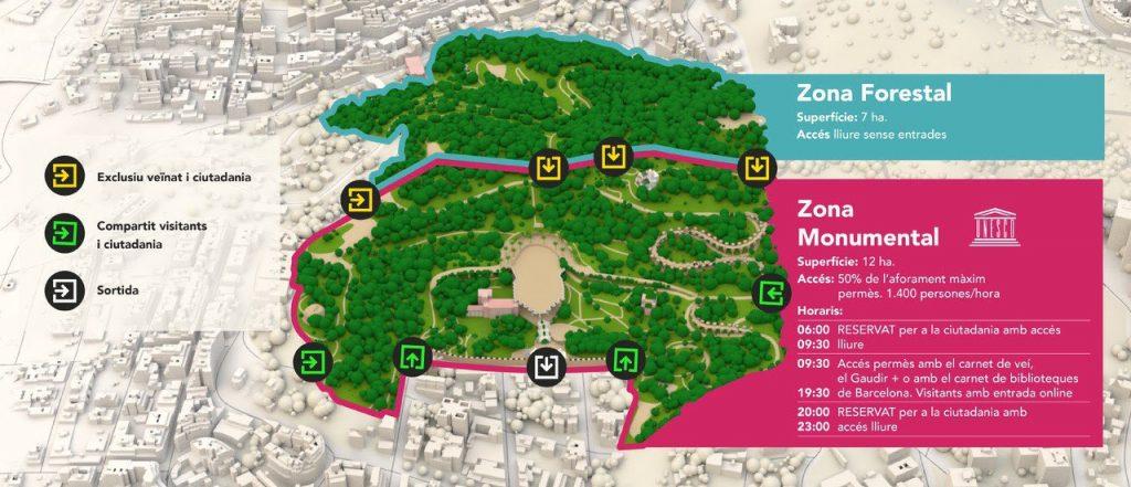 mapa parc güell