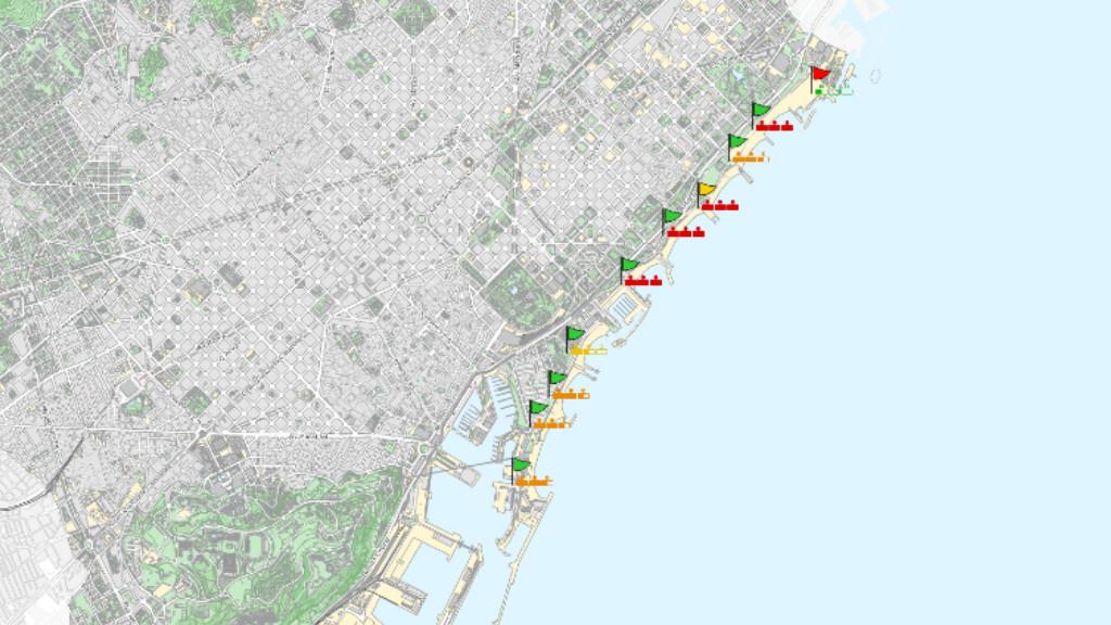 Mapa de platges