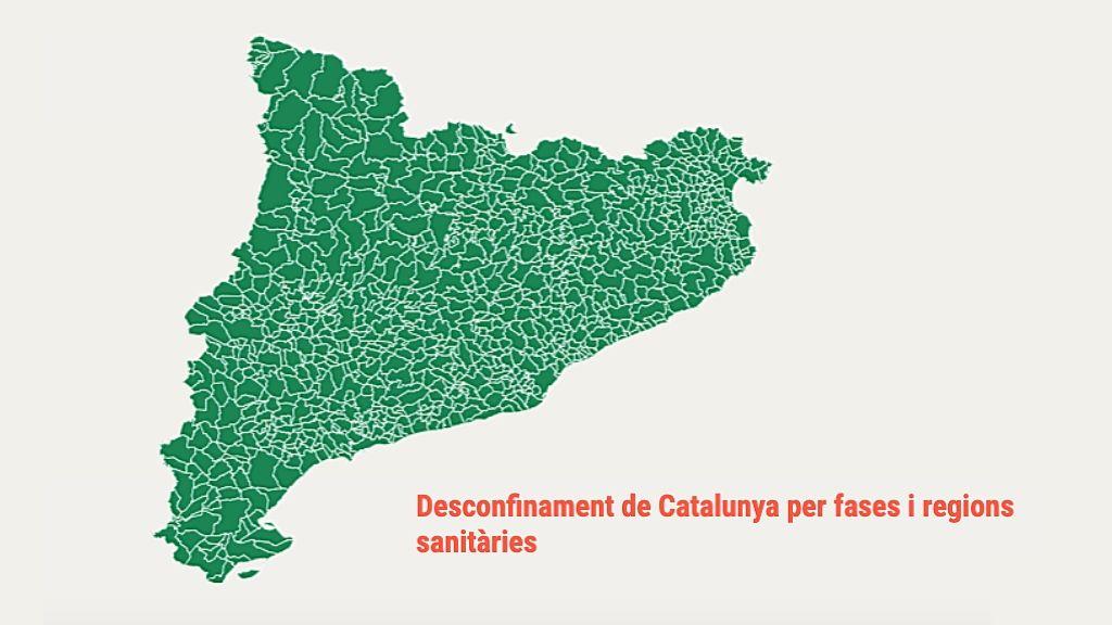 Mapa fases desescalada Catalunya