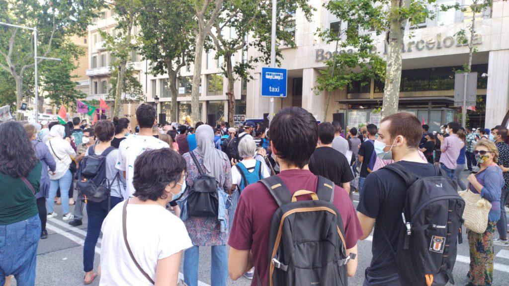 Protesta a la Borsa