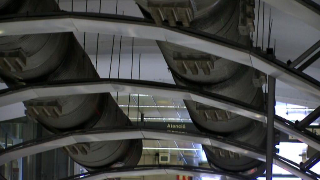 Tubs de ventilació al metro