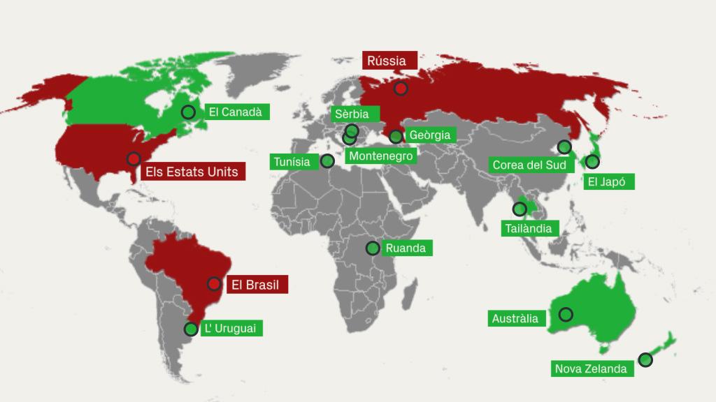 Mapa d'obertura de fronteres