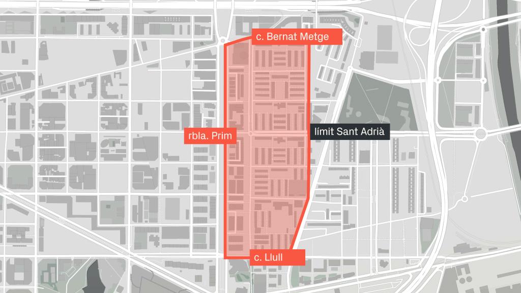 mapa antic barri Besòs