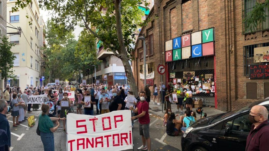 Protesta tanatori Sants