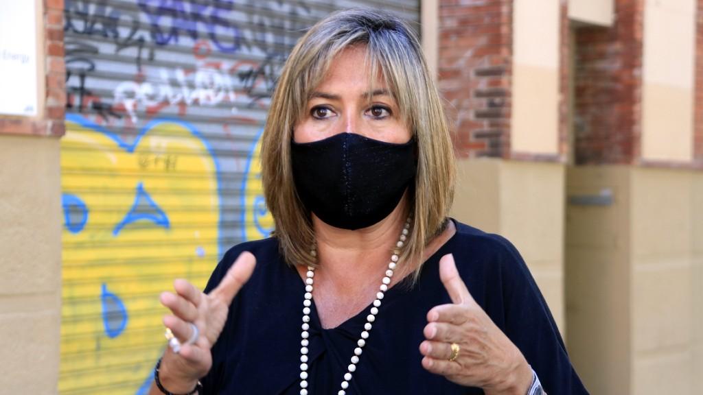 L'alcaldessa de l'Hospitalet, Núria Marín, amb mascareta