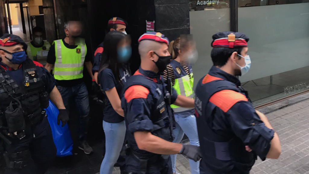Detinguda al carrer de la Indústria