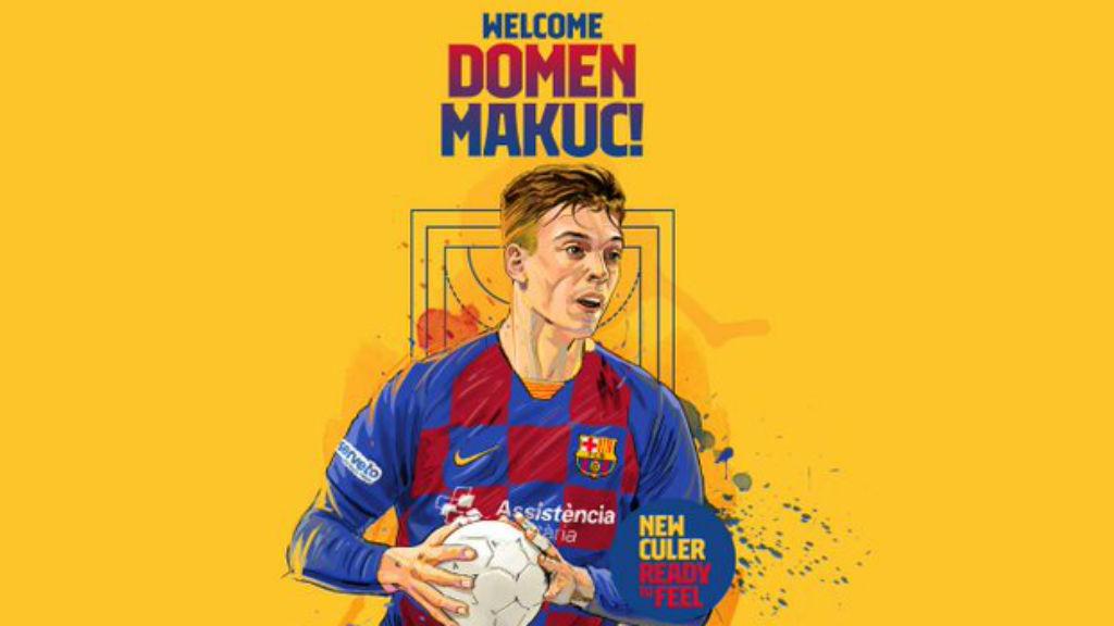 Domen Makuc, jugador FCB Handbol