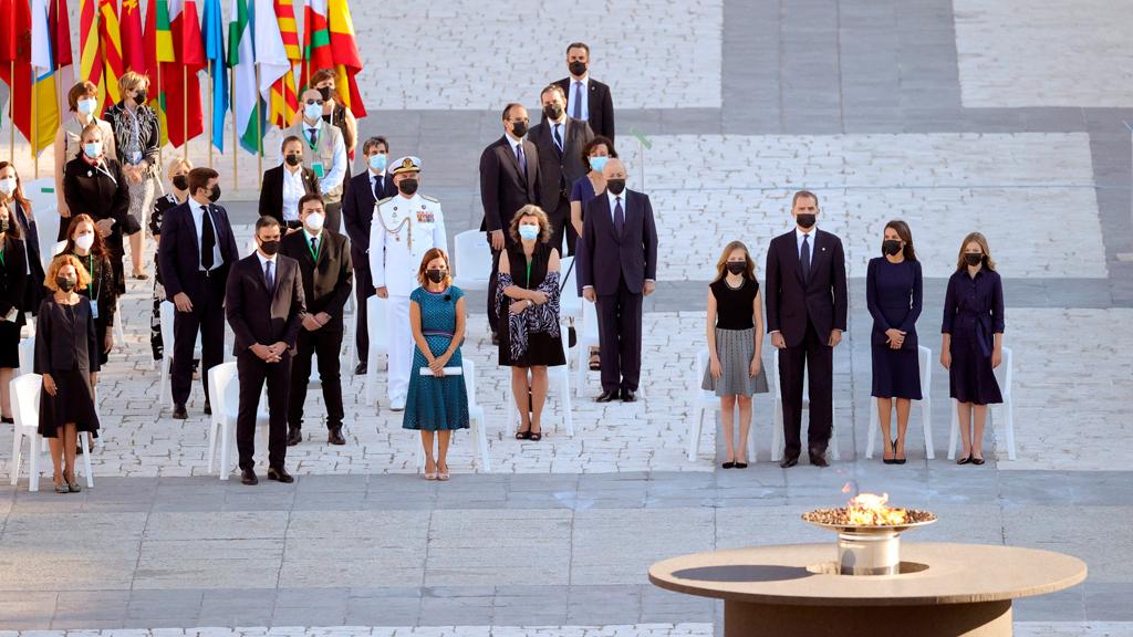 Homenatge a les víctimes del coronavirus a Madrid