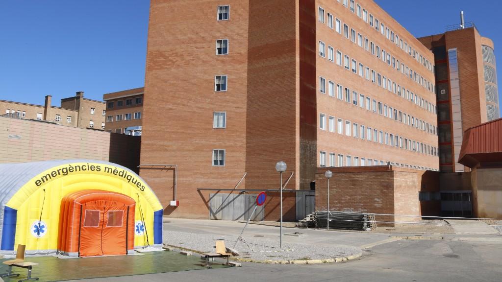 Hospital de campanya a la comarca del Segrià, a Lleida