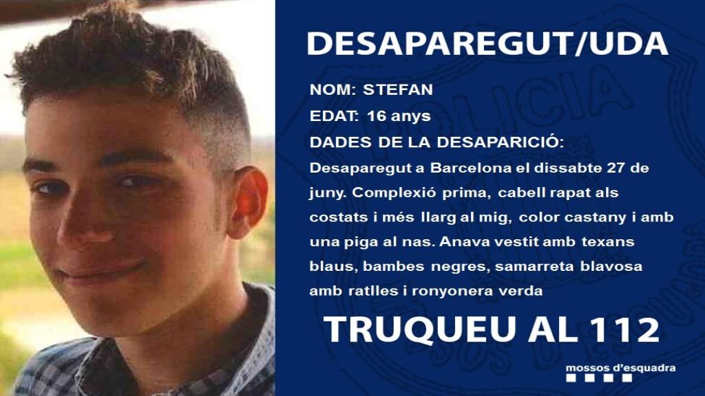Jove 16 anys desaparegut