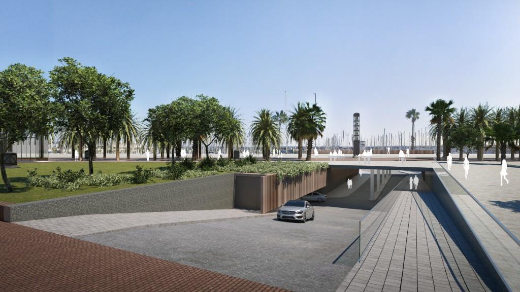 accés moll mestral nou port olímpic 2023