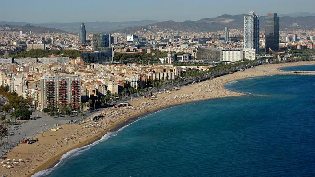 platges barcelona vista àeria
