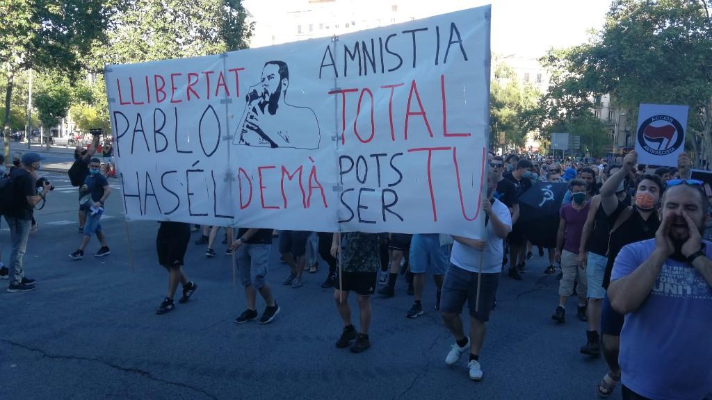 Protesta Pablo Hasél