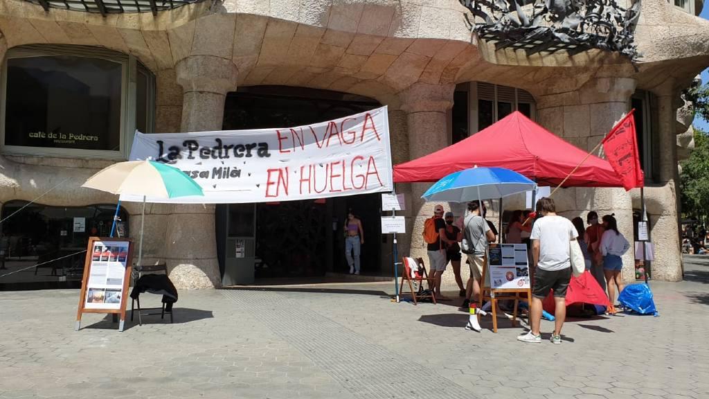 Protesta treballadors subcontractats Pedrera
