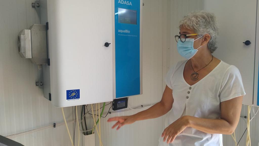 Estació d'anàlisi de coronavirus en aigües