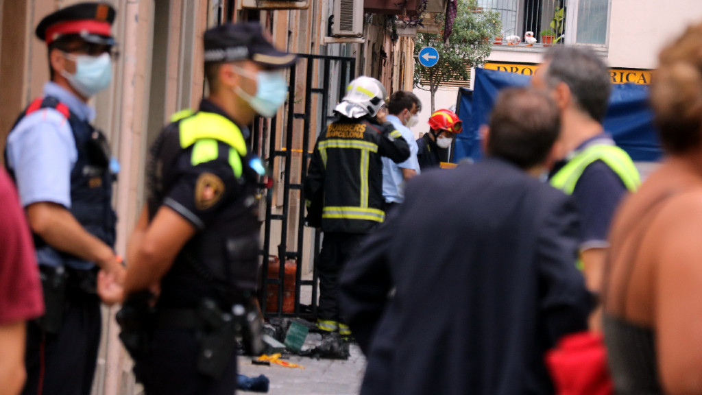 Incendi a la Barceloneta