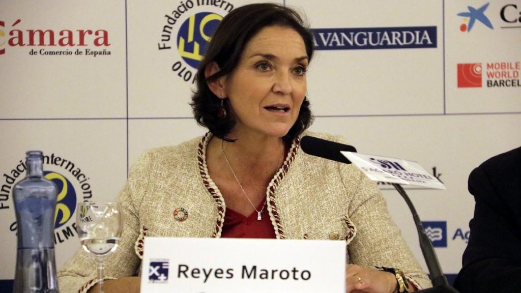 Reyes Maroto en una compareixença