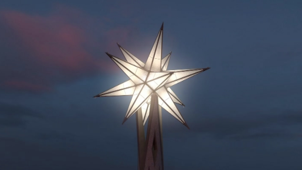 Estrella corona torre mare de deu Sagrada Família
