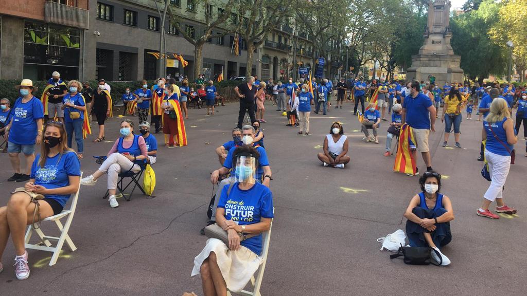 Concentració al passeig de Sant Joan