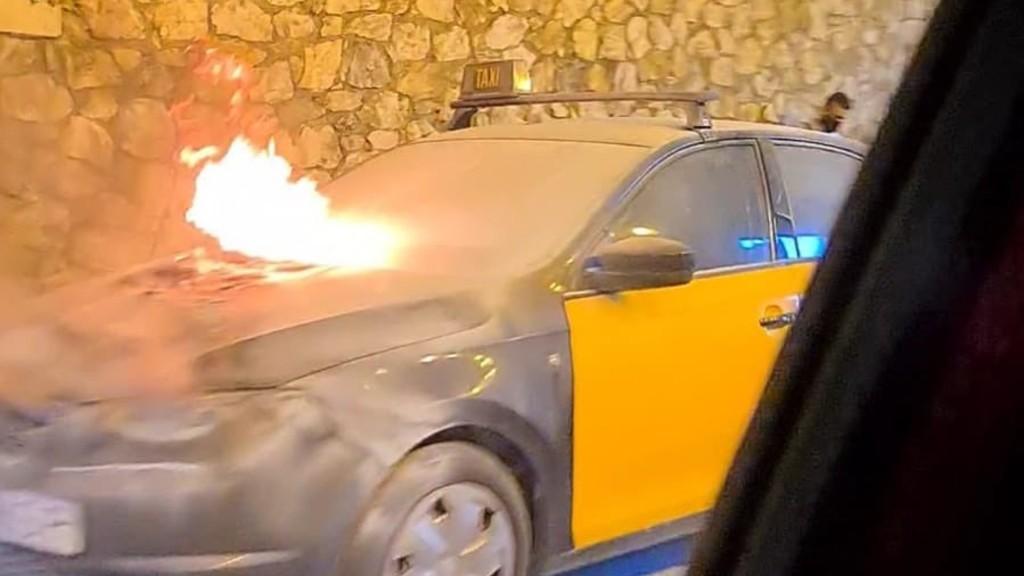 foto taxi cremat ronda litoral
