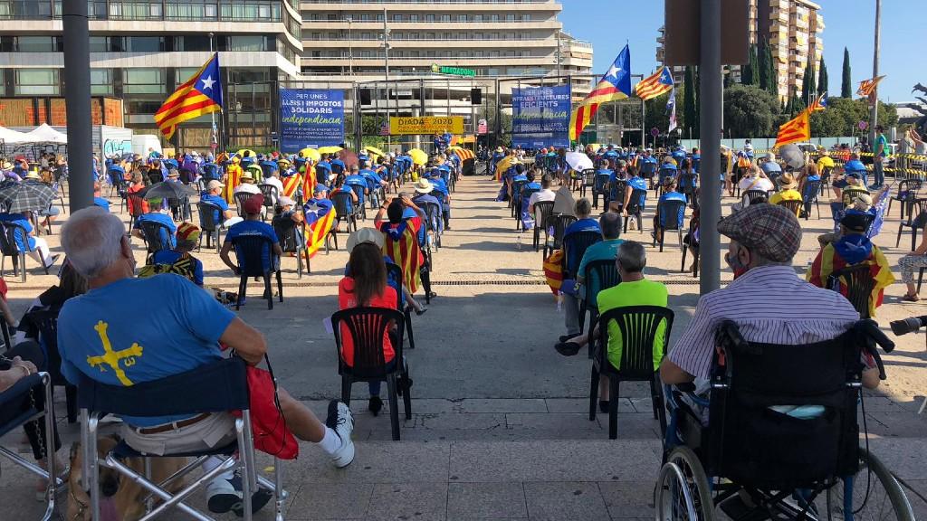 Concentració a la plaça dels Països Catalans