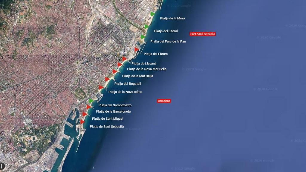 Platges del litoral barceloní