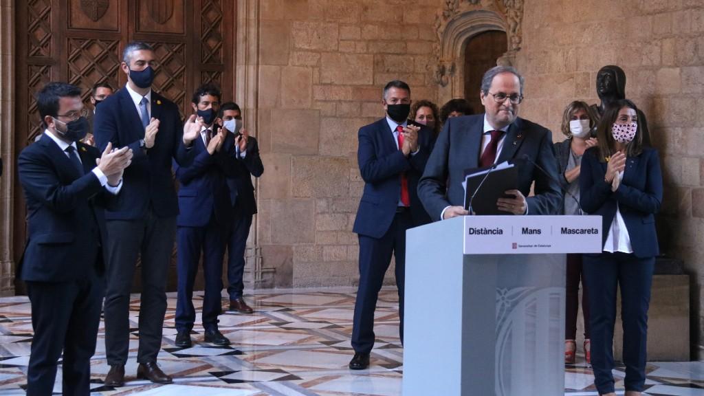 Quim Torra declaració Generalitat