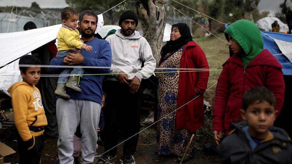 Refugiats a Lesbos