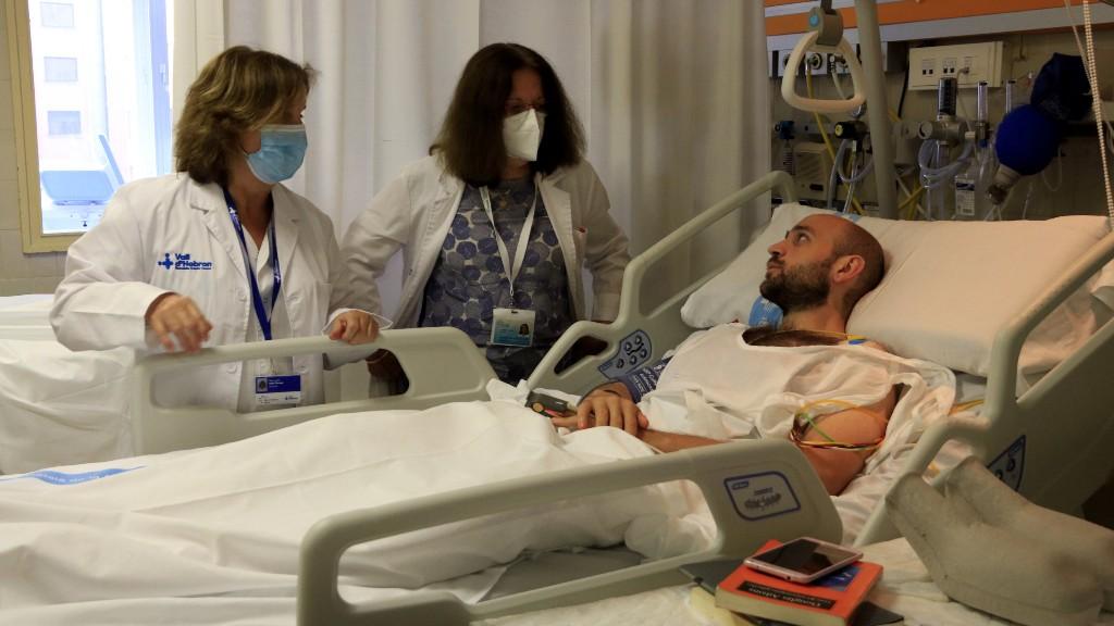 pacient a l'Hospital Vall d'Hebron