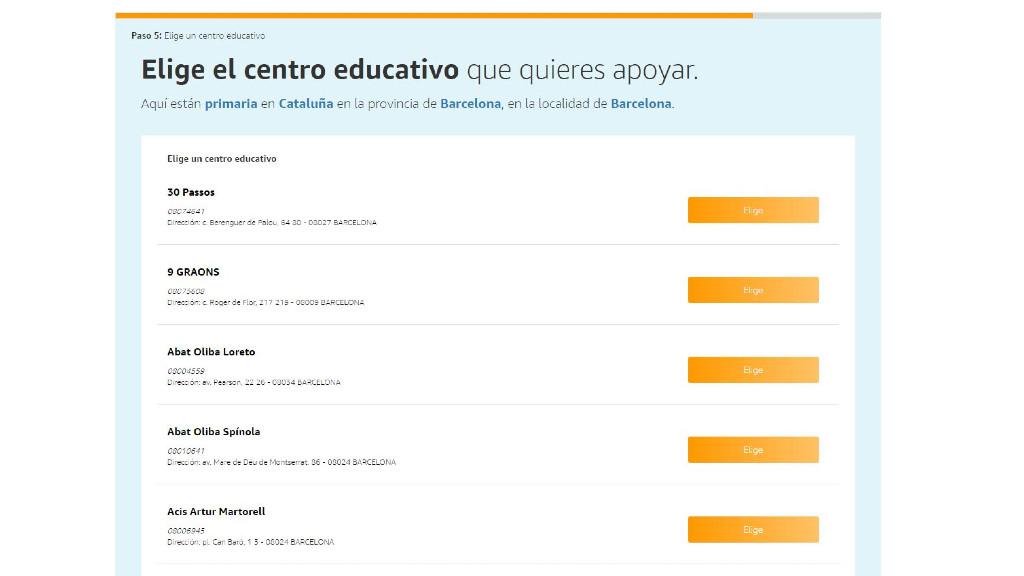 Amazon centres educatius