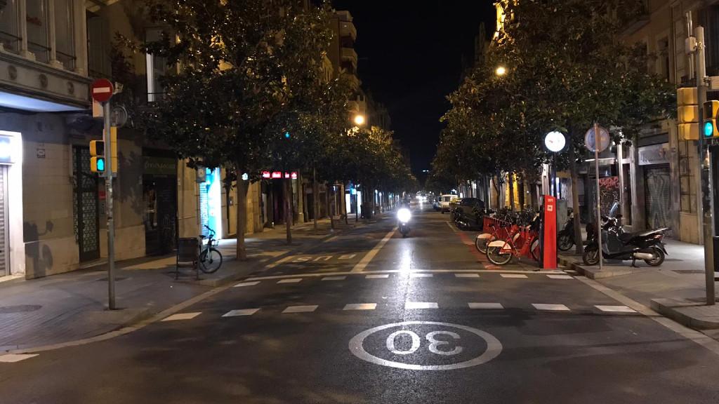 Barcelona, primera nit de toc de queda