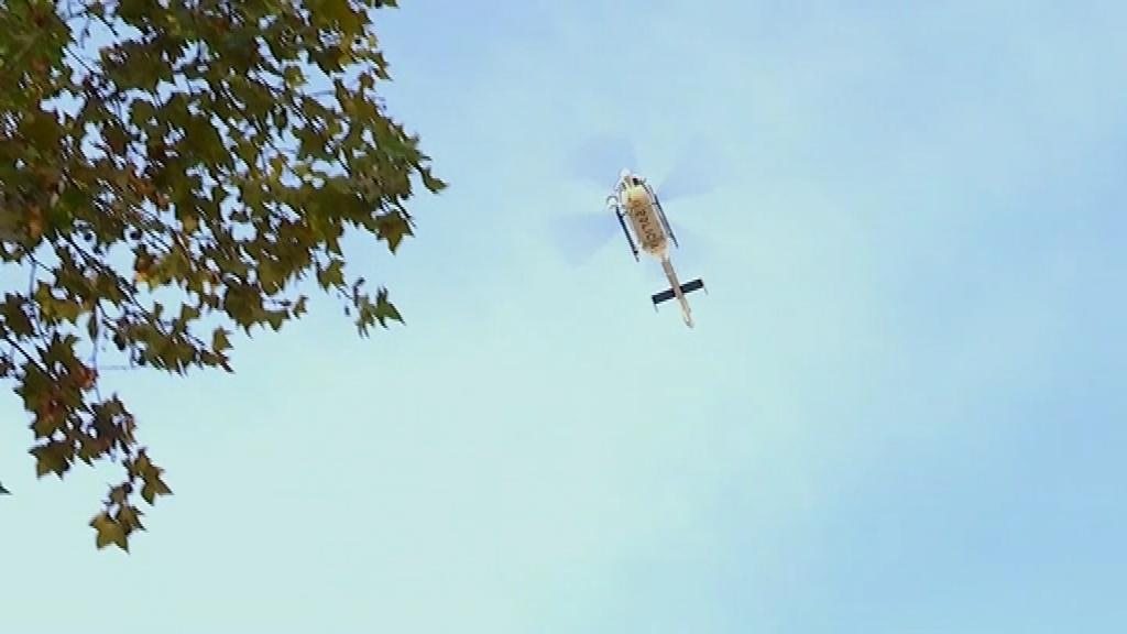Helicòpter a Barcelona dels Mossos a la rambla del Raval