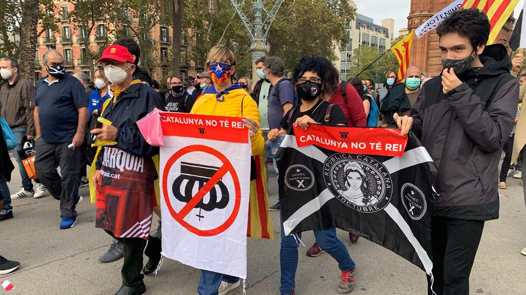 Manifestants dels CDR amb pancartes